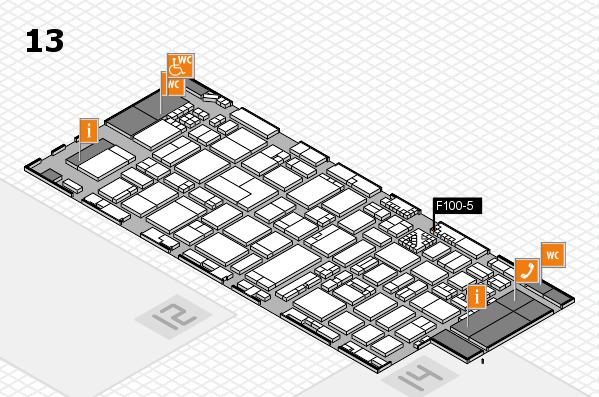 ProWein 2017 Hallenplan (Halle 13): Stand F100-5