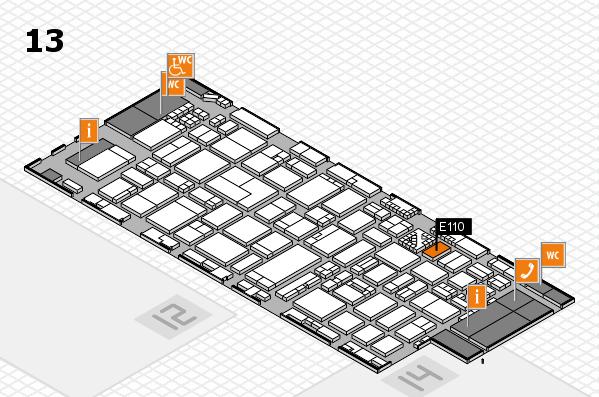 ProWein 2017 hall map (Hall 13): stand E110