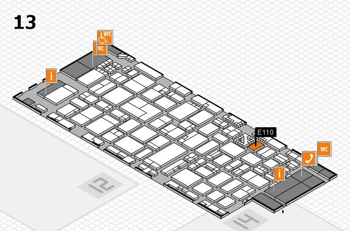 ProWein 2017 Hallenplan (Halle 13): Stand E110