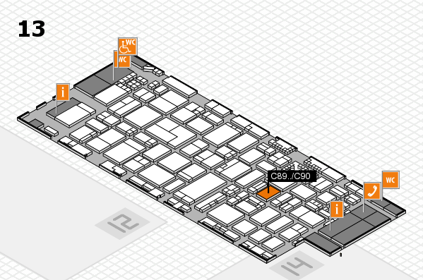 ProWein 2017 hall map (Hall 13): stand C89...C90