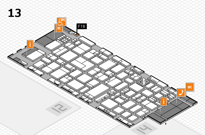 ProWein 2017 hall map (Hall 13): stand F18