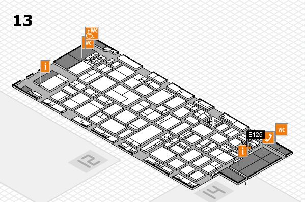 ProWein 2017 Hallenplan (Halle 13): Stand E125