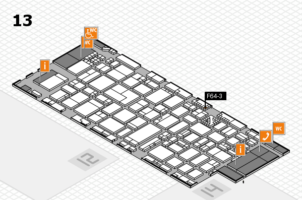 ProWein 2017 hall map (Hall 13): stand F64-3