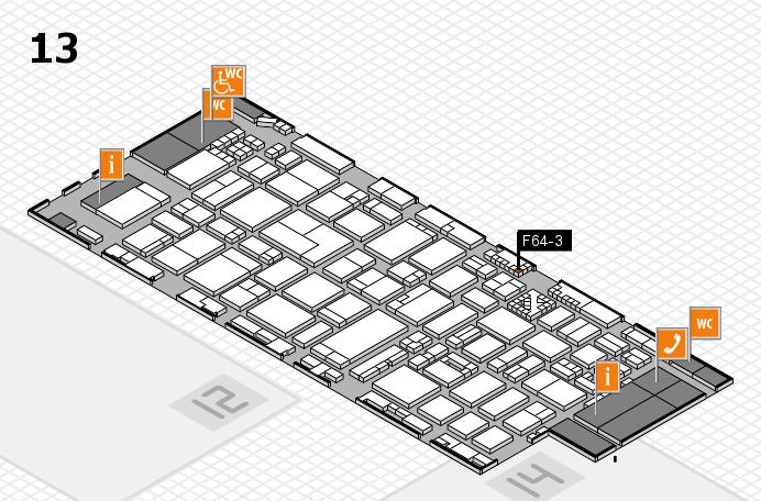 ProWein 2017 Hallenplan (Halle 13): Stand F64-3