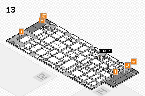 ProWein 2017 hall map (Hall 13): stand E100-7