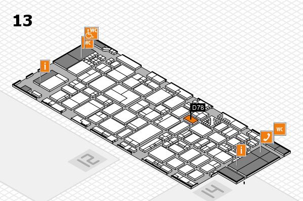 ProWein 2017 Hallenplan (Halle 13): Stand D78