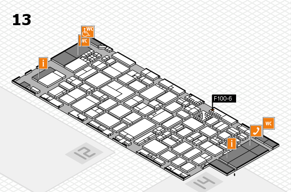 ProWein 2017 hall map (Hall 13): stand F100-6