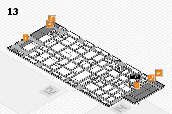 ProWein 2017 hall map (Hall 13): stand E117