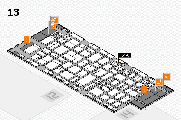 ProWein 2017 hall map (Hall 13): stand F64-6