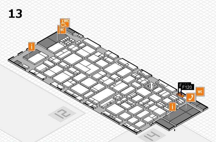 ProWein 2017 Hallenplan (Halle 13): Stand F120