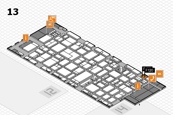 ProWein 2017 hall map (Hall 13): stand F120
