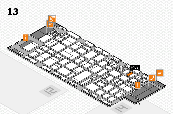 ProWein 2017 hall map (Hall 13): stand F109