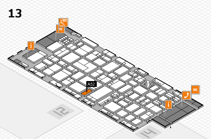 ProWein 2017 hall map (Hall 13): stand A52