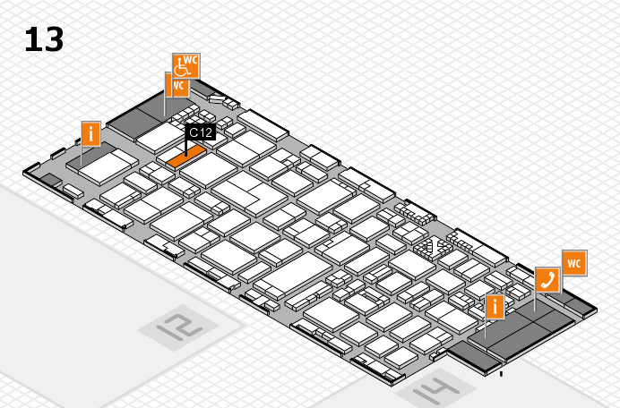 ProWein 2017 hall map (Hall 13): stand C12
