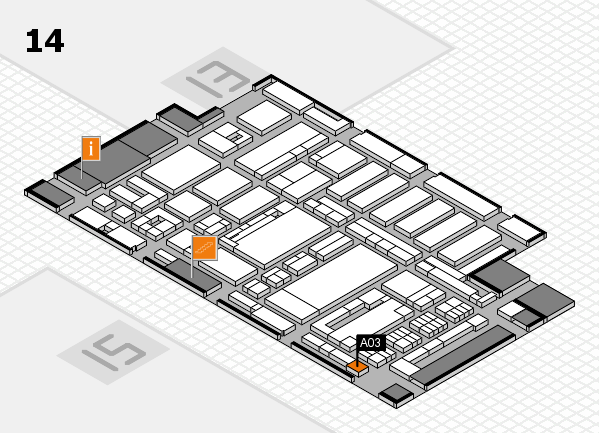 ProWein 2017 hall map (Hall 14): stand A03