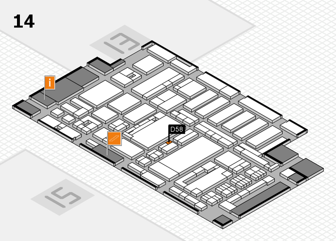 ProWein 2017 hall map (Hall 14): stand D58