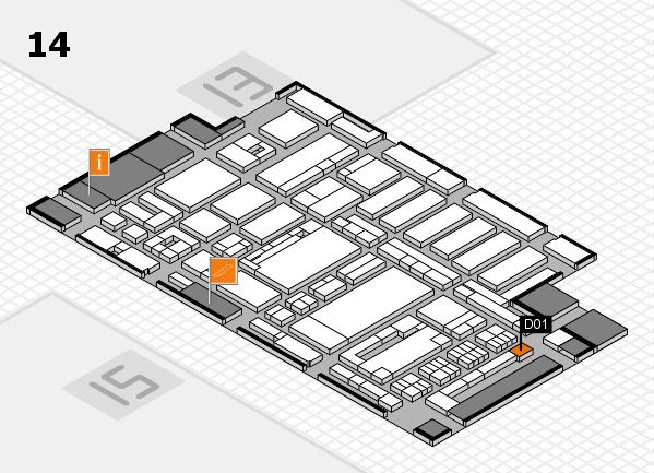 ProWein 2017 Hallenplan (Halle 14): Stand D01