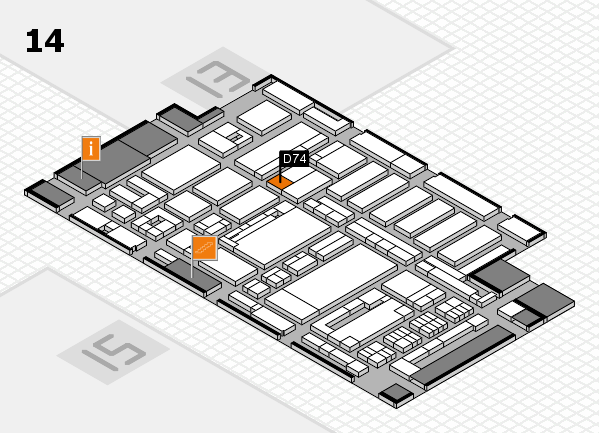 ProWein 2017 hall map (Hall 14): stand D74