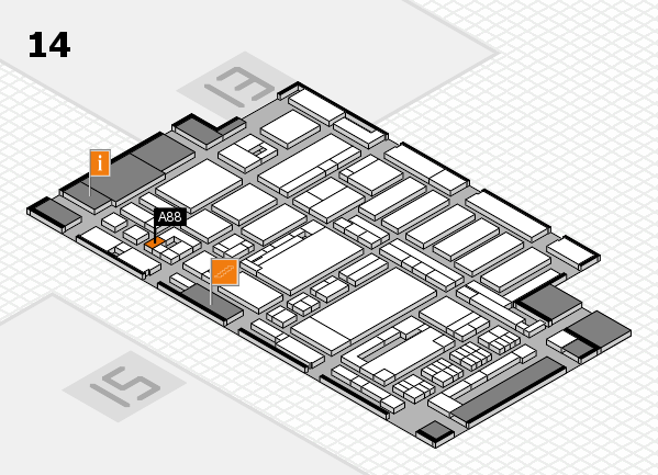 ProWein 2017 hall map (Hall 14): stand A88