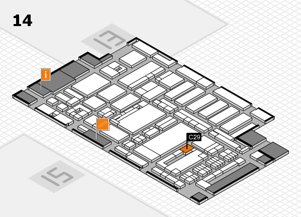 ProWein 2017 hall map (Hall 14): stand C29