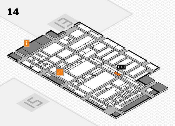 ProWein 2017 hall map (Hall 14): stand D40