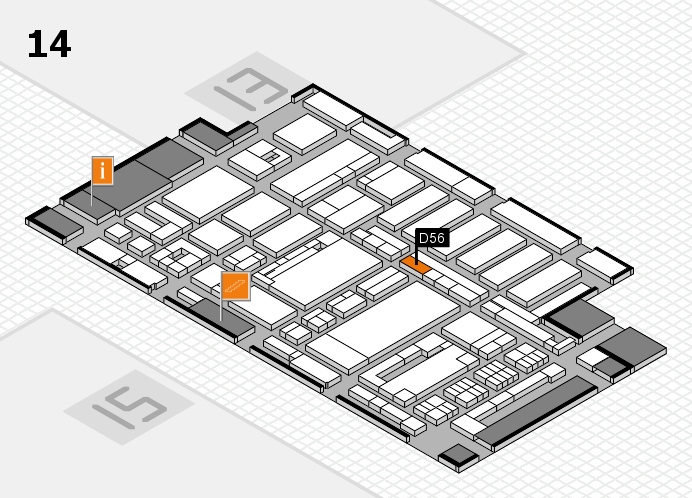 ProWein 2017 hall map (Hall 14): stand D56