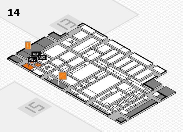 ProWein 2017 Hallenplan (Halle 14): Stand A85, Stand A90