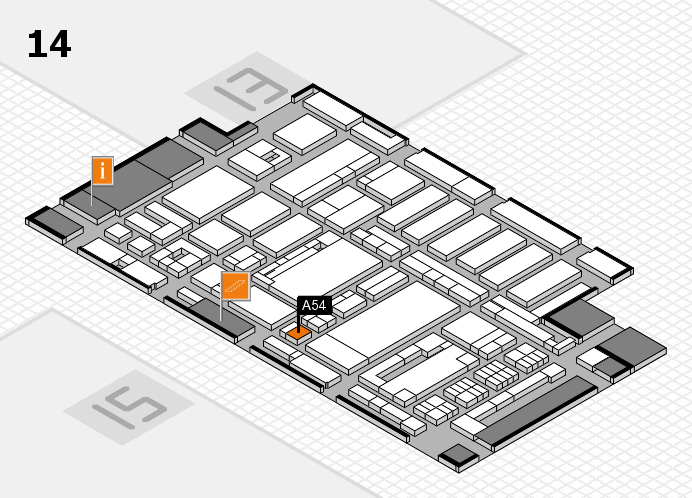 ProWein 2017 hall map (Hall 14): stand A54