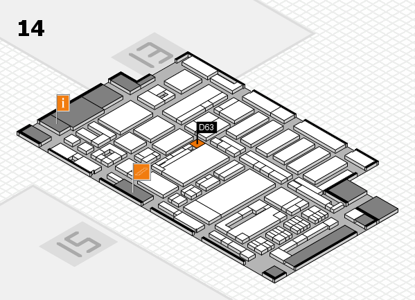 ProWein 2017 hall map (Hall 14): stand D63
