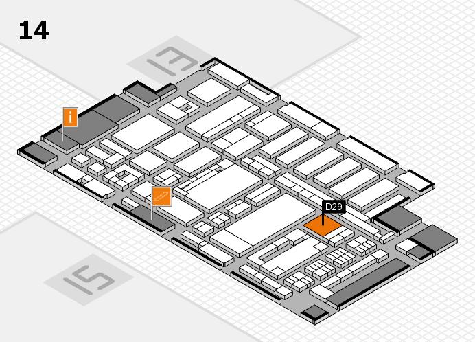 ProWein 2017 Hallenplan (Halle 14): Stand D29