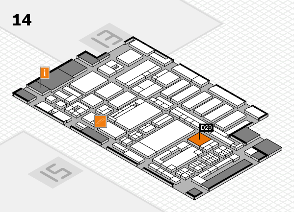 ProWein 2017 hall map (Hall 14): stand D29