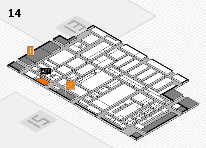 ProWein 2017 hall map (Hall 14): stand A77