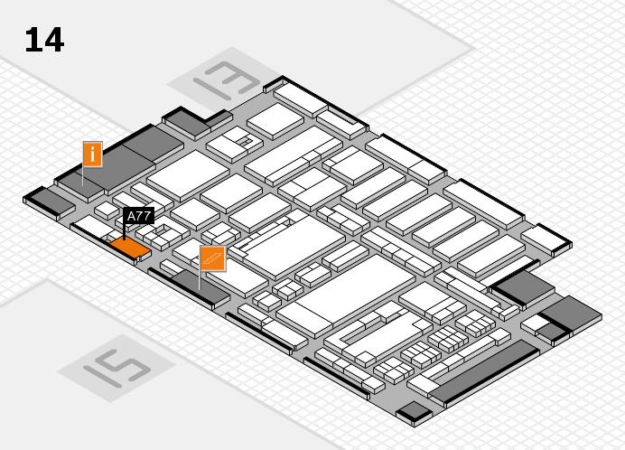 ProWein 2017 Hallenplan (Halle 14): Stand A77