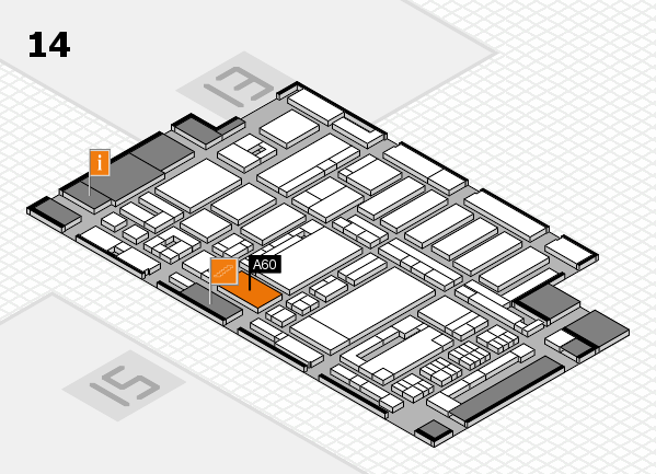 ProWein 2017 hall map (Hall 14): stand A60