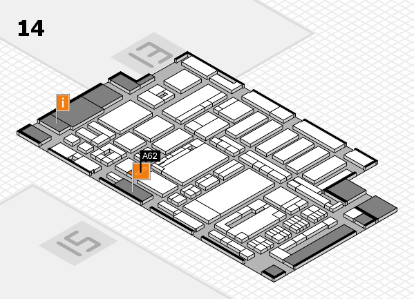 ProWein 2017 hall map (Hall 14): stand A62