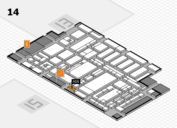ProWein 2017 hall map (Hall 14): stand A59