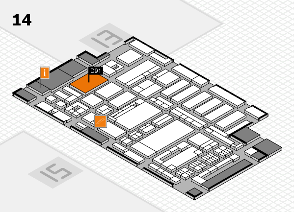 ProWein 2017 hall map (Hall 14): stand D91