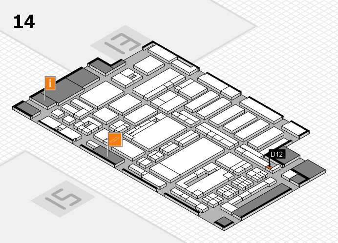 ProWein 2017 hall map (Hall 14): stand D12