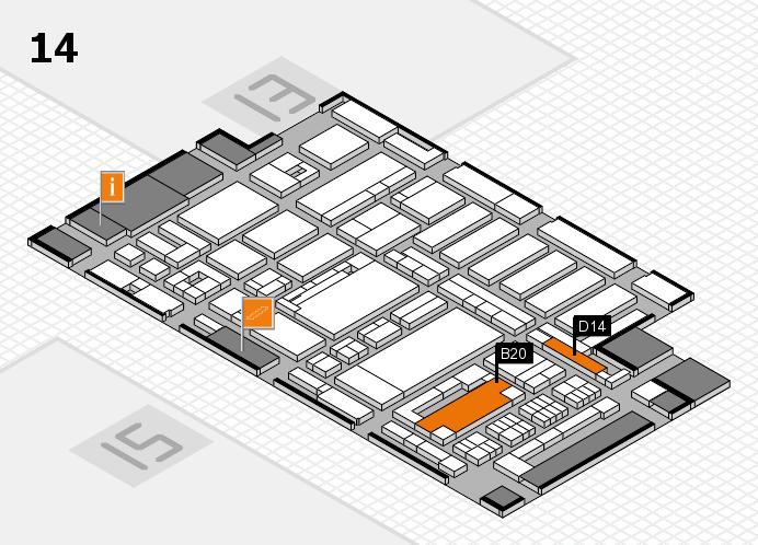 ProWein 2017 Hallenplan (Halle 14): Stand B20, Stand D14