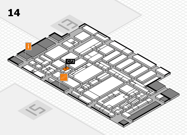 ProWein 2017 hall map (Hall 14): stand C73