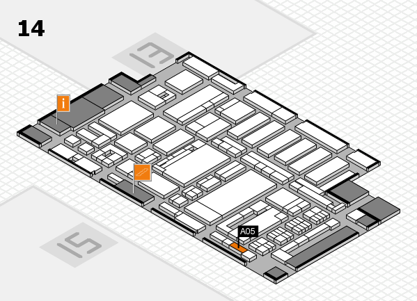 ProWein 2017 hall map (Hall 14): stand A05