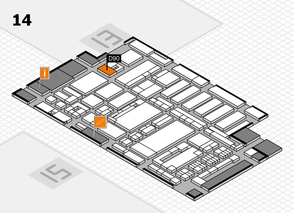 ProWein 2017 hall map (Hall 14): stand D90