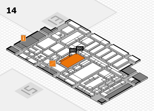 ProWein 2017 hall map (Hall 14): stand B60