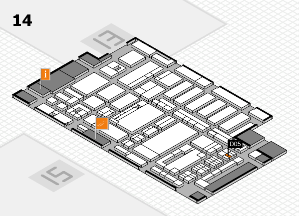 ProWein 2017 hall map (Hall 14): stand D05