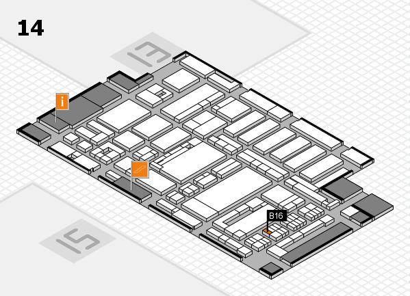 ProWein 2017 hall map (Hall 14): stand B16