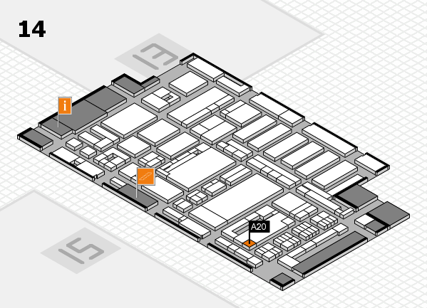 ProWein 2017 hall map (Hall 14): stand A20