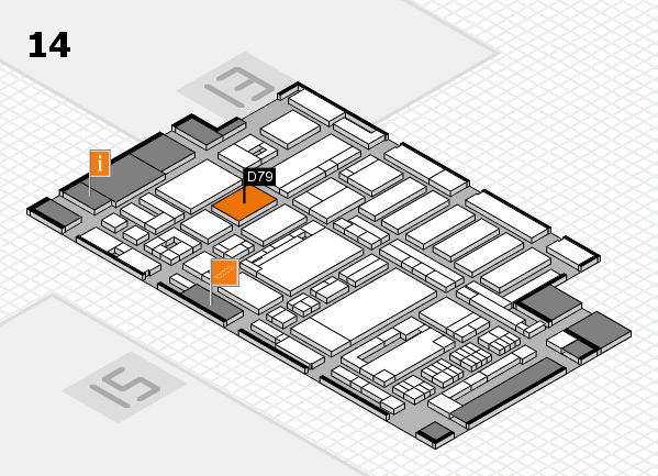 ProWein 2017 hall map (Hall 14): stand D79