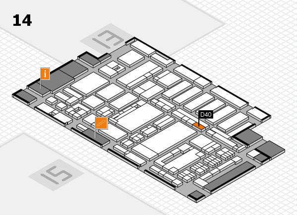 ProWein 2017 Hallenplan (Halle 14): Stand D40