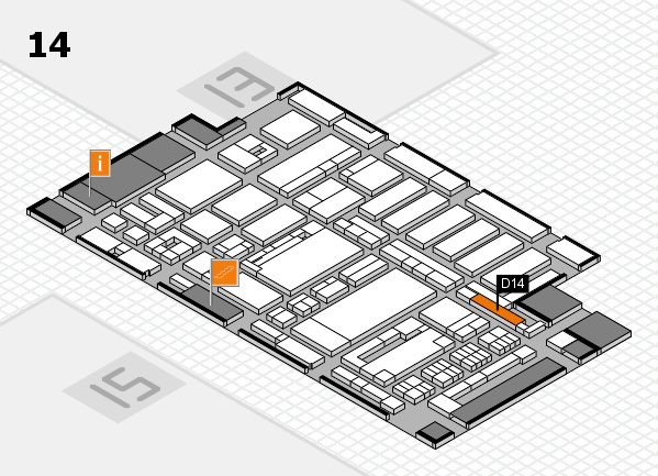 ProWein 2017 hall map (Hall 14): stand D14