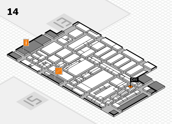 ProWein 2017 hall map (Hall 14): stand D11